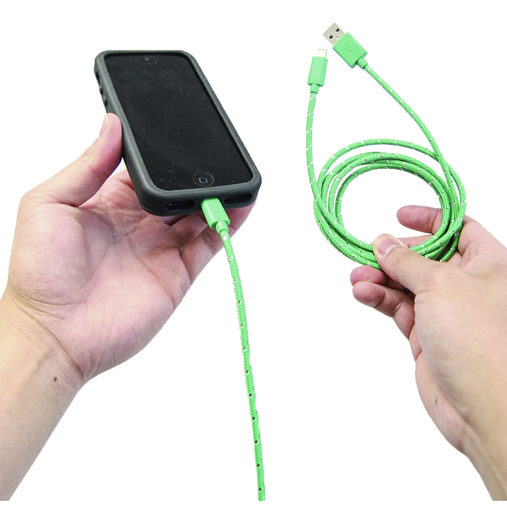 OnHand Green Everlasting Lightning Cable