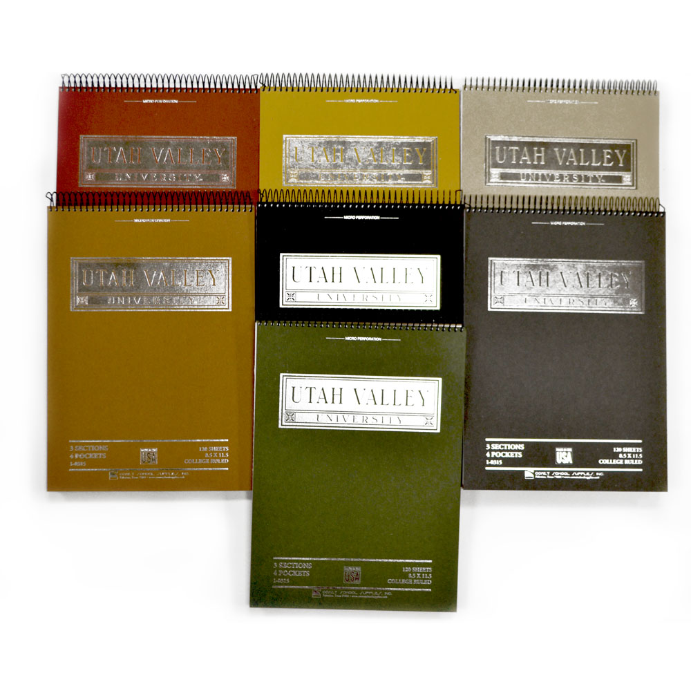 Utah Valley Top Bound Notebooks