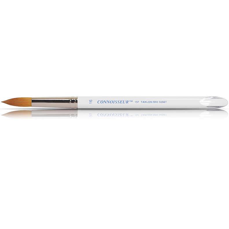 Connoisseur#6 RoundGold Taklon Brush