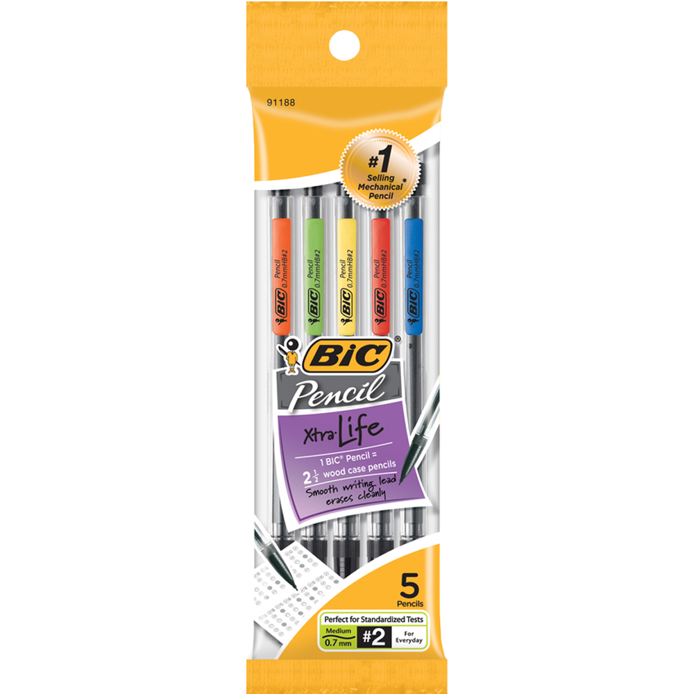 Bic Mechanical Pencils0.7mm 5 Pack
