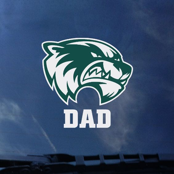 "Green and White Head""DAD"" 4"" Decal"