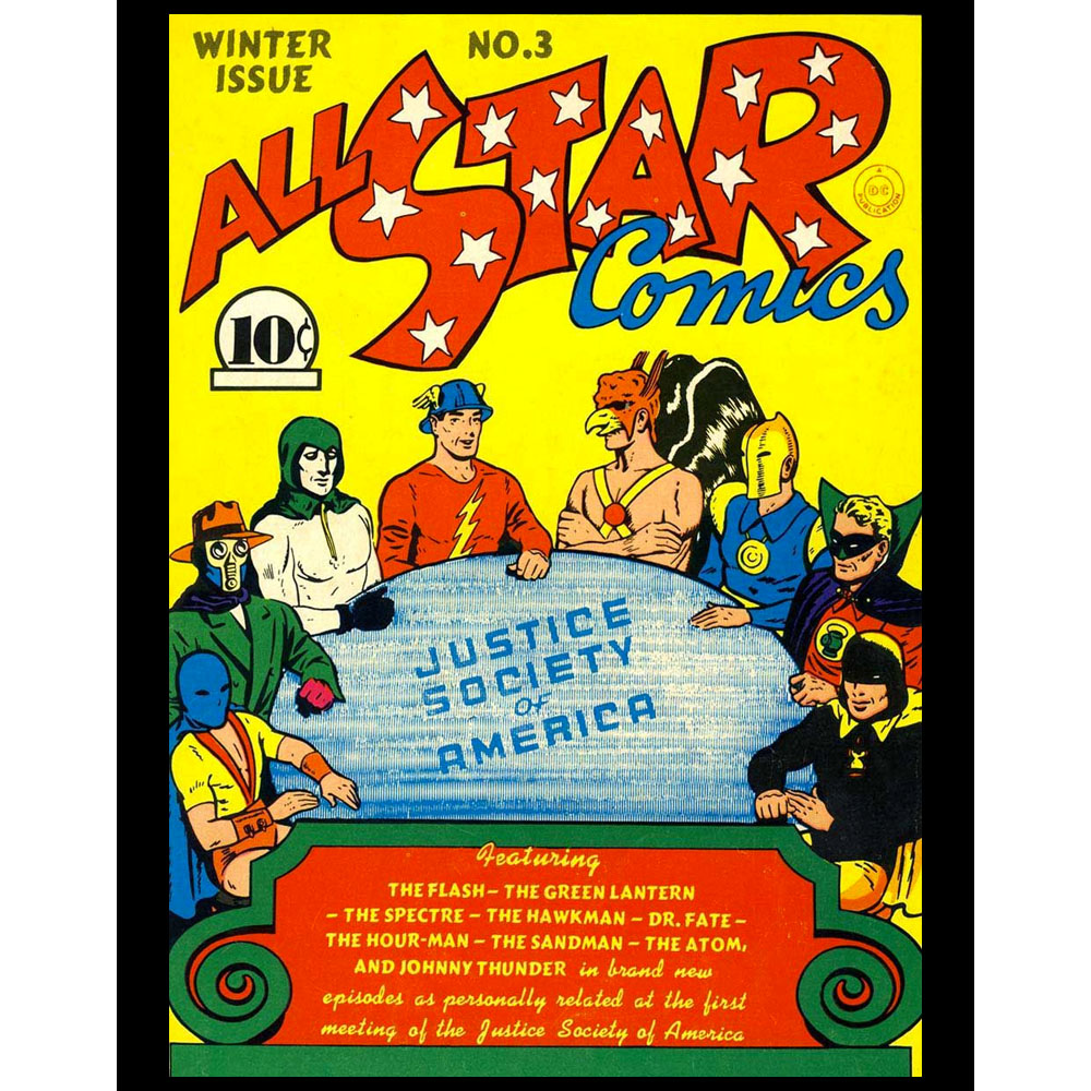 "All-Star Comics  11x14"" Poster Print"