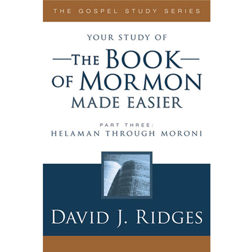 The Book of MormonMade EasierDavid J. Ridges