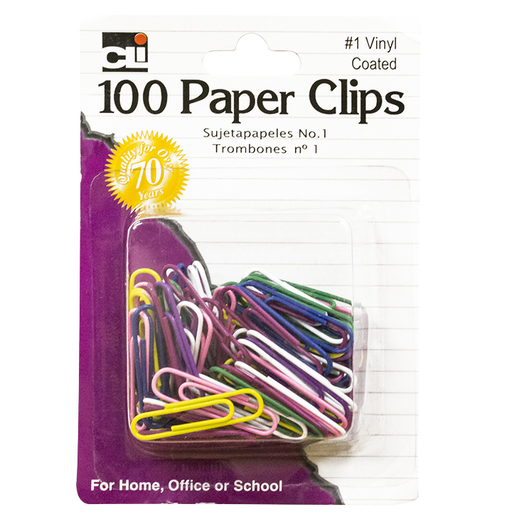 100 Paper ClipsCoated