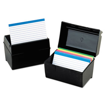 Oxford Index Card BoxBlack