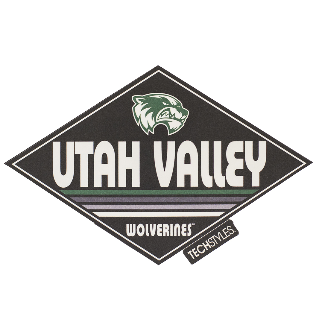 Techstyle Straight TearUtah Valley Wolverines Sticker