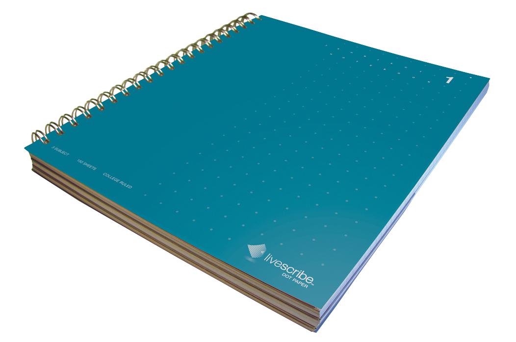 LIVESCRIBE DOT MATRIX3-SUBJECT LINED NOTEBOOK