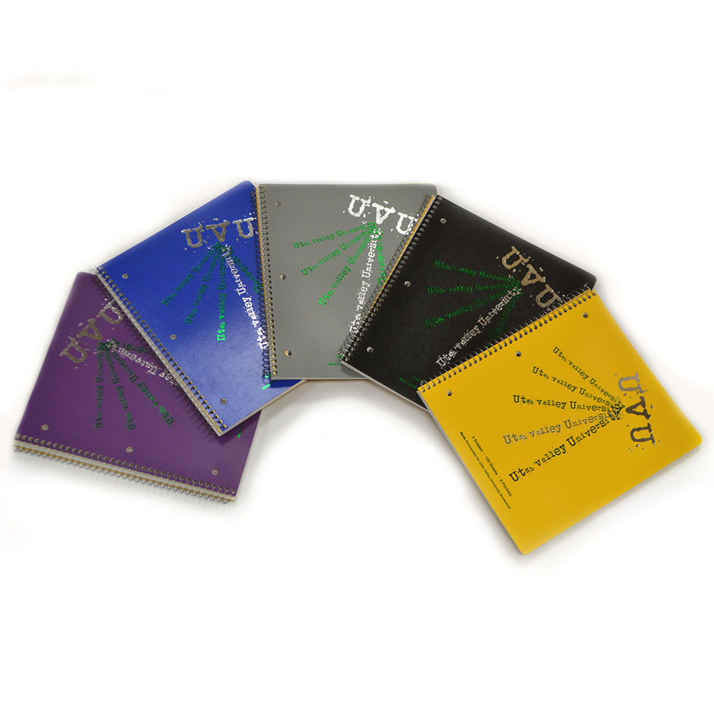 Cover Image For UVU<br>3 Subject Notebook<br>Assorted Colors