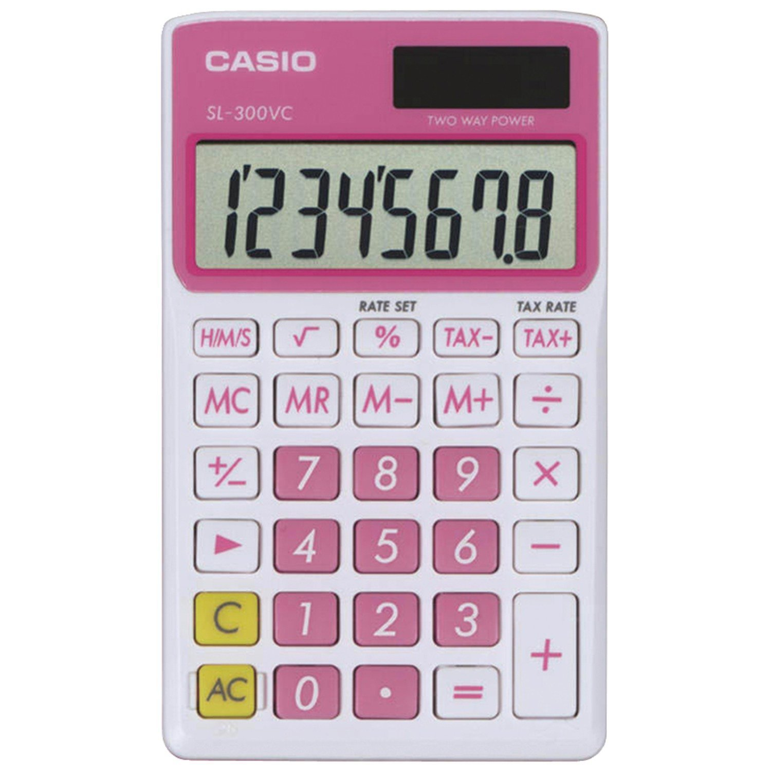 Cover Image For Casio Pink SL-300VC Basic Calculator