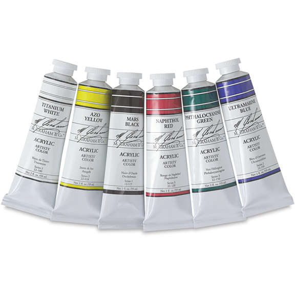 Cover Image For M. Graham 5-Color Acrylic Paint Set<br>With Bonus Tube