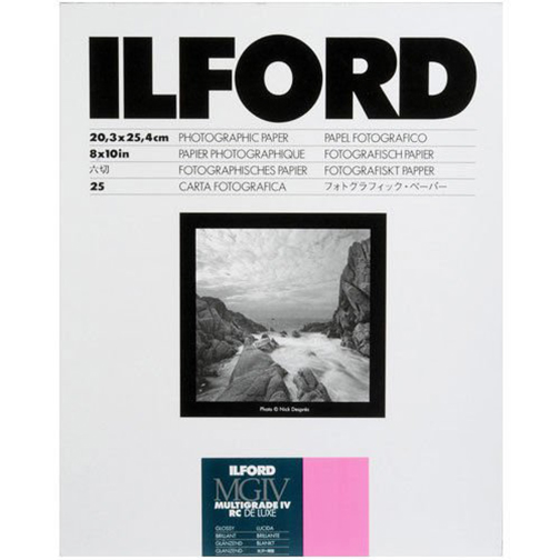 "Image For Ilford MGIV RC<br>Photo Paper, 8x10""<br>25-Pack (Glossy)"