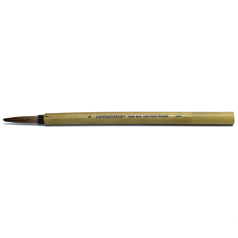 Image For Connoisseur Sumi Brush<br>#6 Round Bamboo
