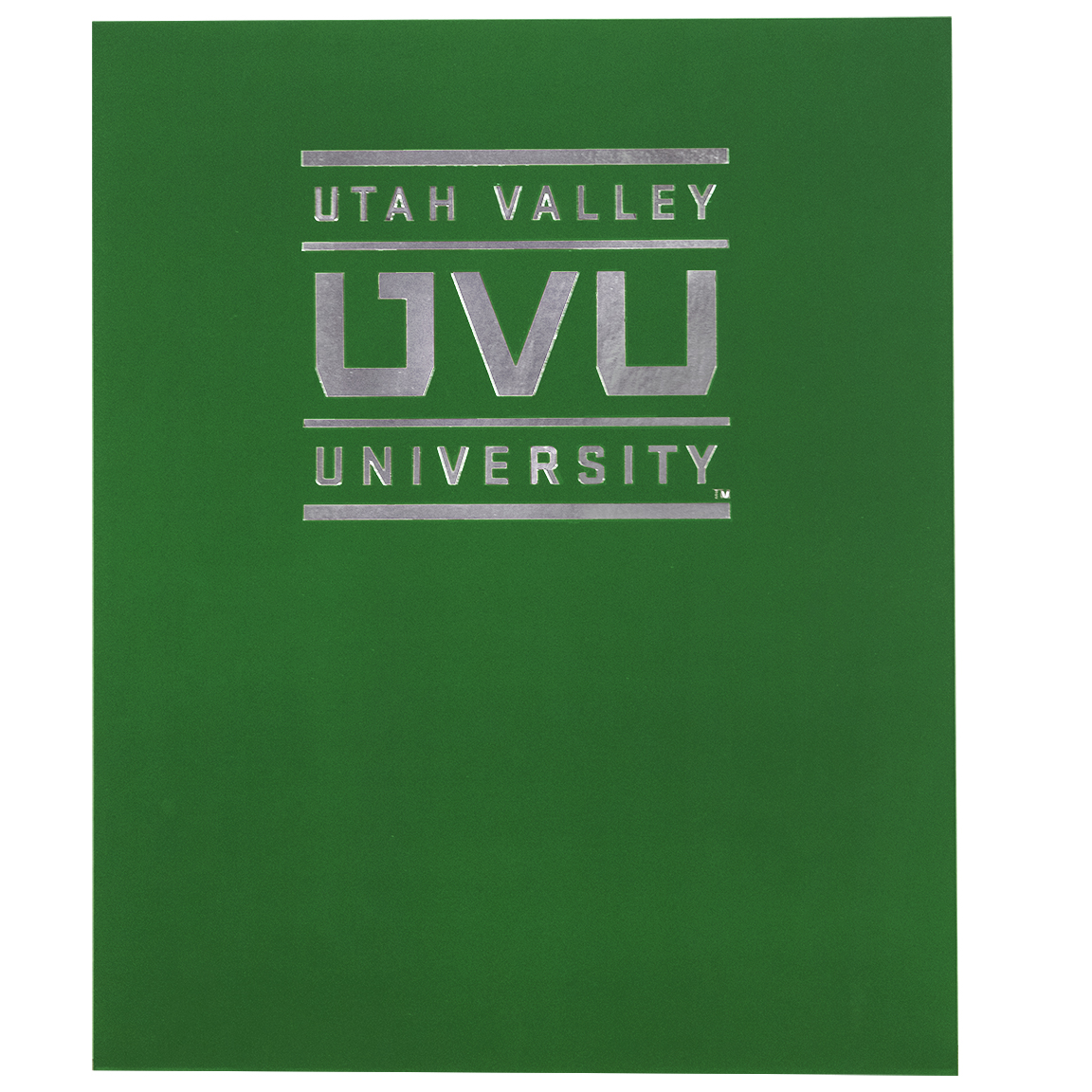 Image For University Square Logo<br>Soft Touch Folder<br>Green