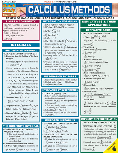 Image For Quick Study<br>Calculus Methods