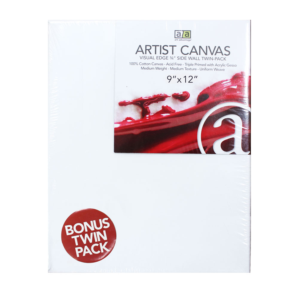 "Image For Artist Canvas Twin Pack 9""x12""<br>Art Advantage"