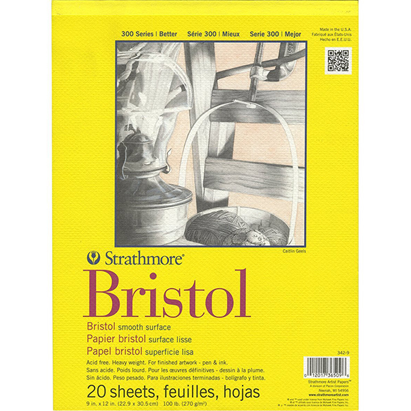 "Image For Strathmore<br>Bristol Smooth Paper<br>9""x12"""