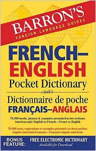 Image For Barron's French-English<br>Pocket Dictionary