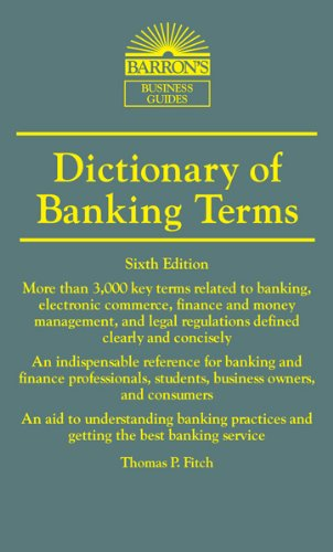 Image For Dictionary of<br>Banking Terms<br>Thomas Fitch