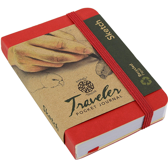 Cover Image For Pentalic Red<br>4x3 Sketch<br> Traveler Pocket Journal