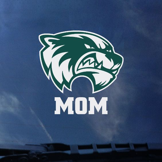 "Image For Green and White Head<br>""MOM"" 4"" Decal"
