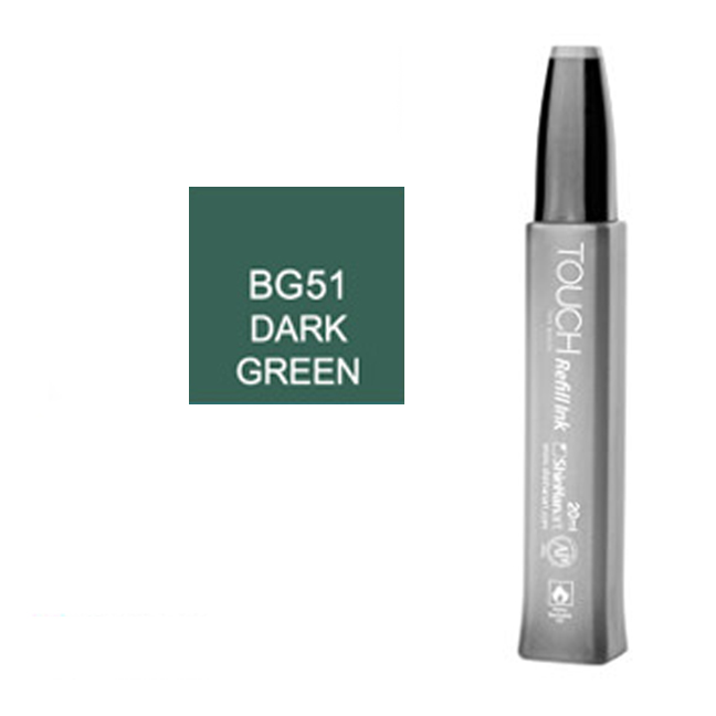 Image For Touch Twin<br>Refill Ink<br>BG51 Dark Green