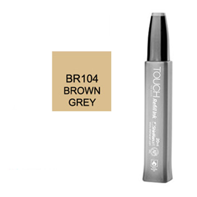 Image For Touch Twin<br>Refill Ink<br>BR104 Brown Grey