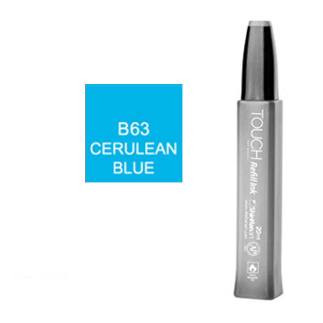 Image For Touch Twin<br>Refill Ink<br>B63 Cerulean Blue