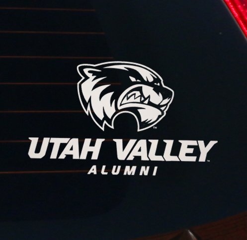 Image For UVU Alumni<br>Clear Decal