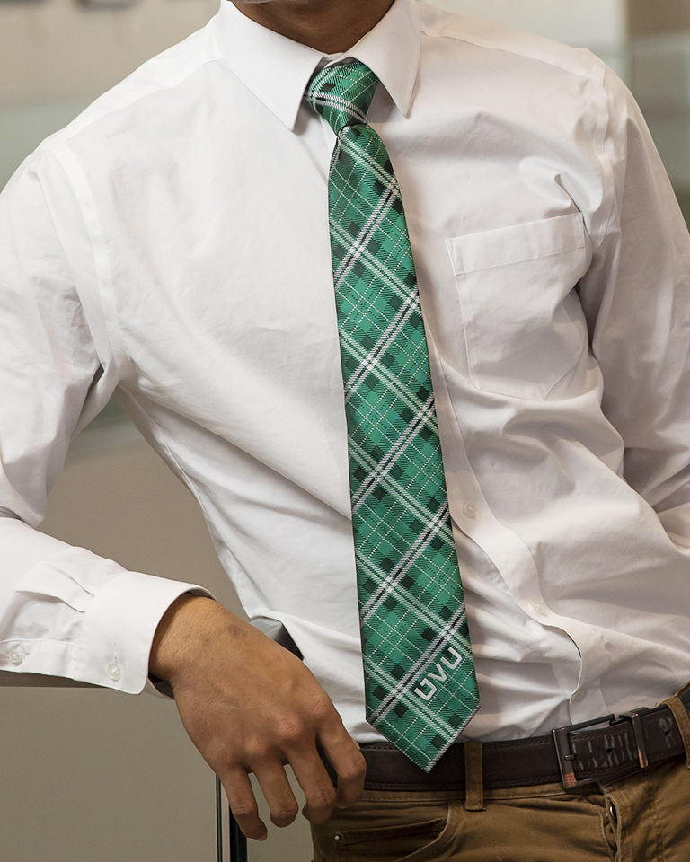 Image For Green Plaid<br>Microfiber Necktie
