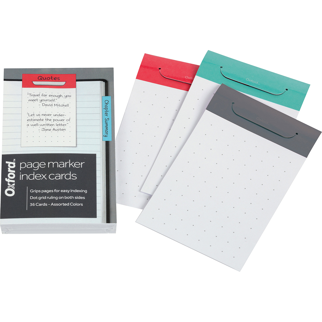 "Image For Index Card Page Markers<br>3""x 5"""