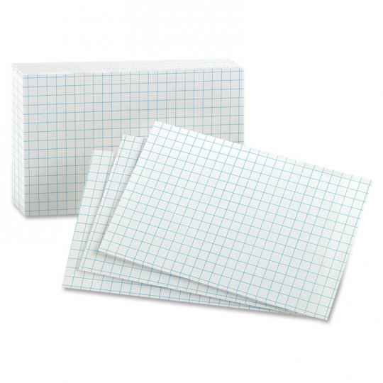 "Image For ¼"" Gridded Index Cards<br>3""x 5"""
