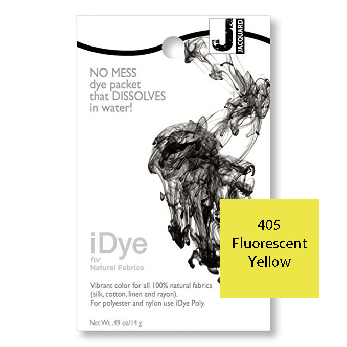 Image For iDye Fabric Dye - Fluorescent Yellow