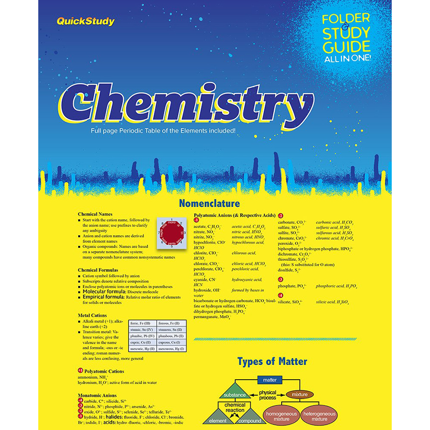 Image For BarCharts Chemistry Study Folder