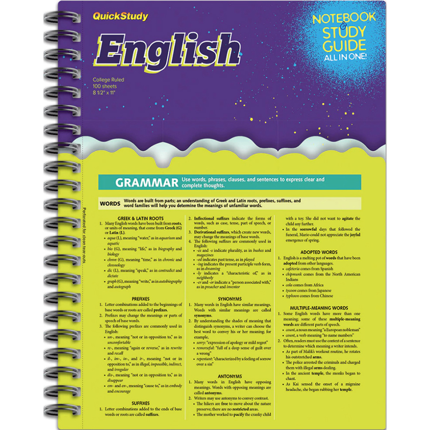 Image For BarCharts English Notebook