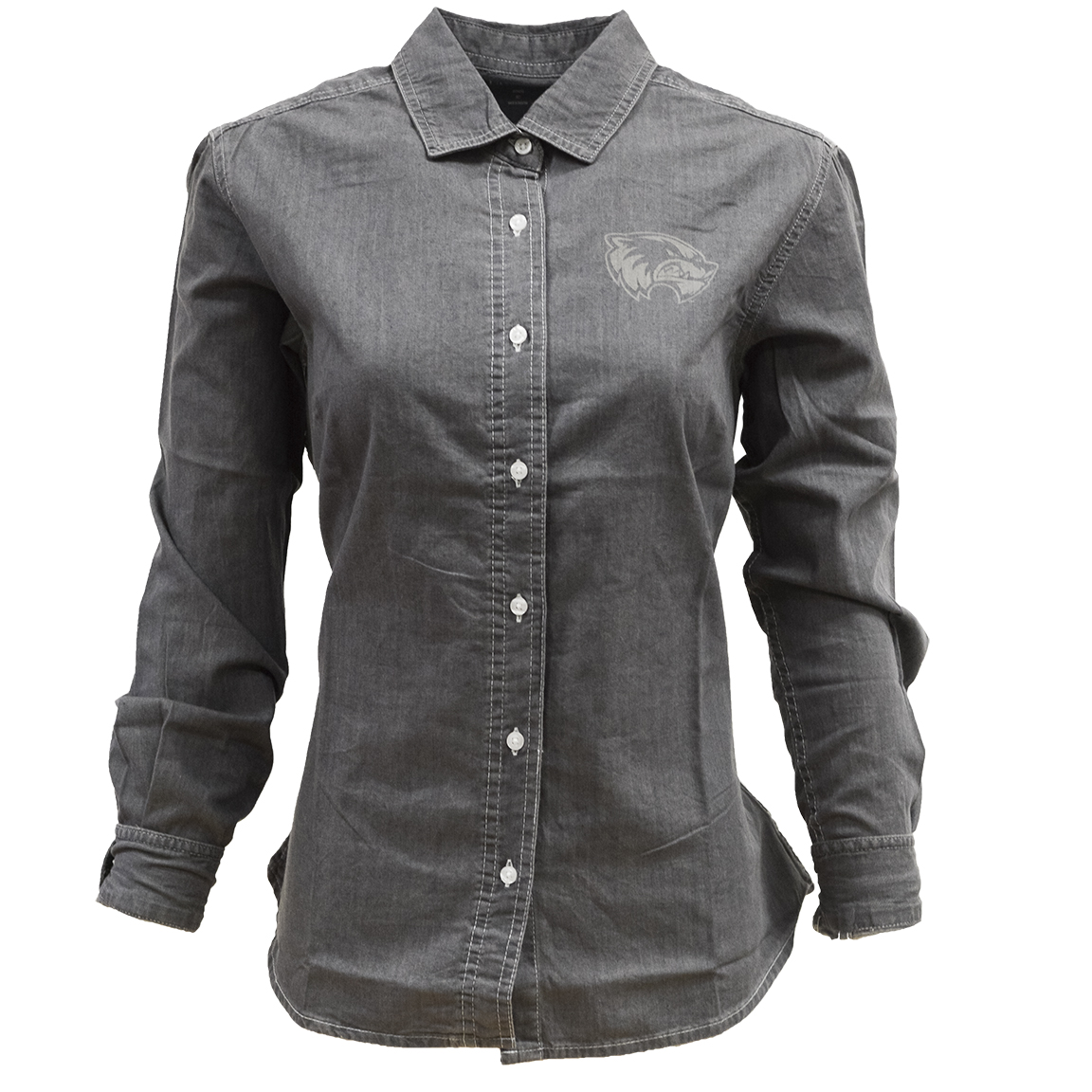 Image For Women's Cut<Br>Vantage Button Denim<br>Long Sleeve