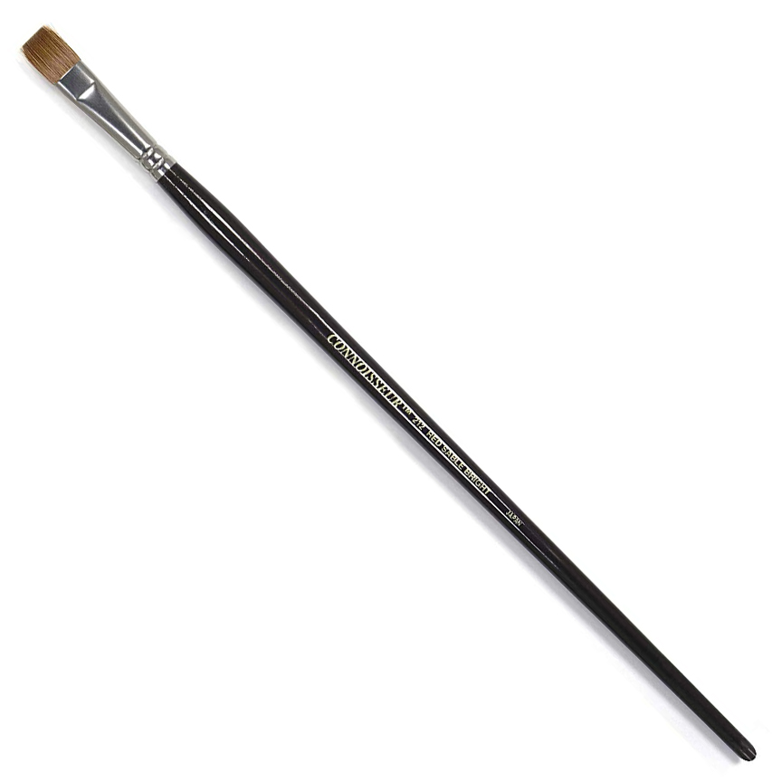 Image For Connoisseur<br>#4 Red Sable Bright<br>Long Handle Brush