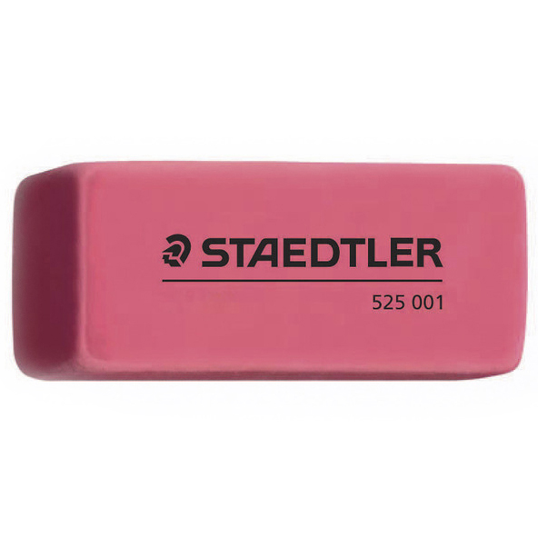 Image For Staedtler Pink Wedge Eraser