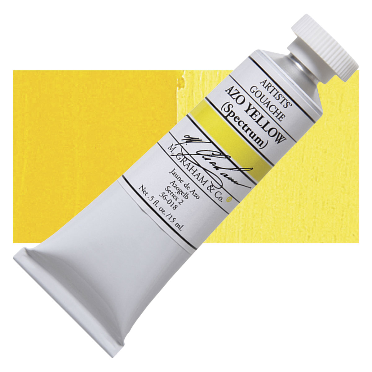 Image For M. Graham<br>Gouache<br>Azo Yellow<br>0.5oz