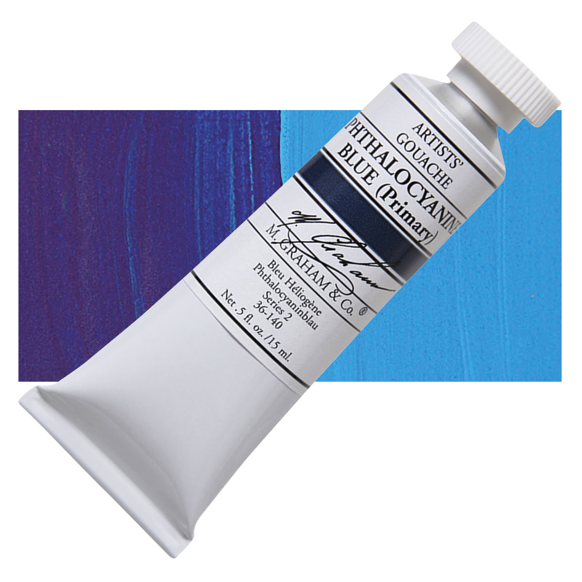 Image For M. Graham<br>Gouache<br>Phthalo Blue<br>0.5oz