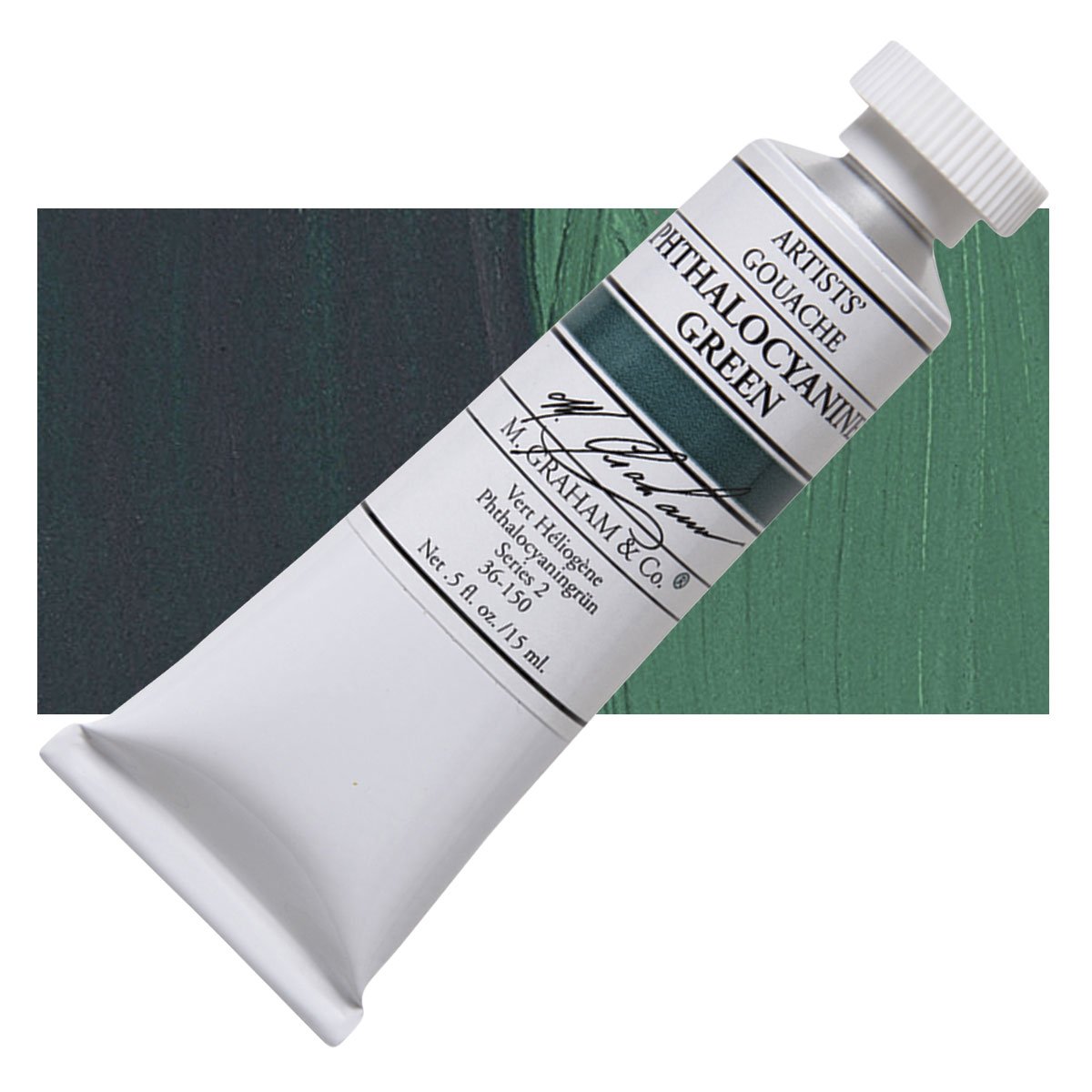 Image For M. Graham<br>Gouache<br>Phthalo Green<br>0.5oz