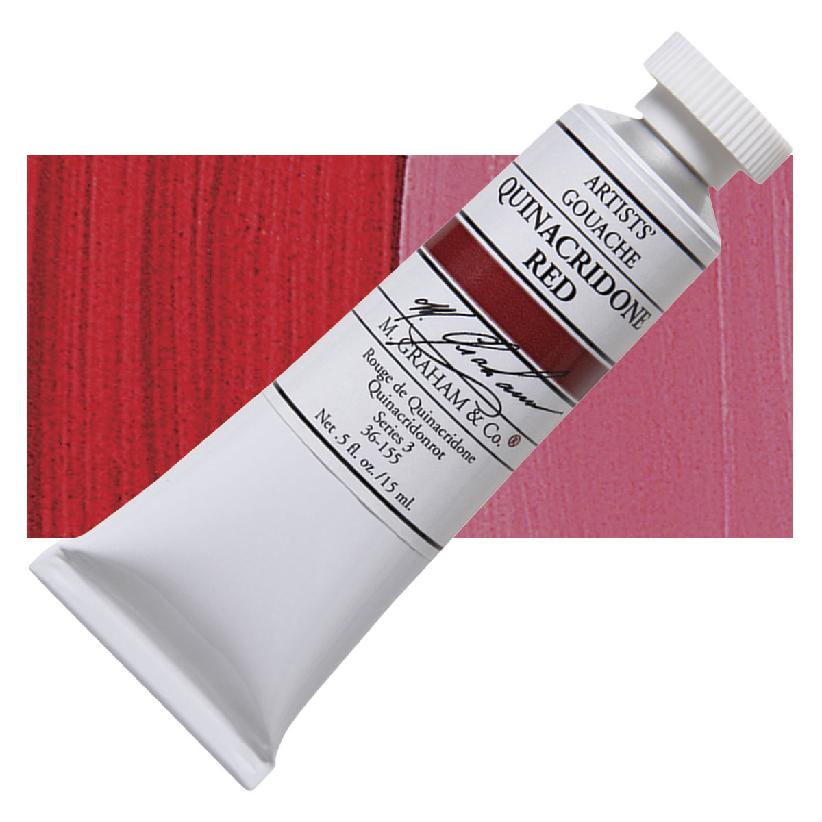 Image For M. Graham<br>Gouache<br>Quinacridone Red<br>0.5oz