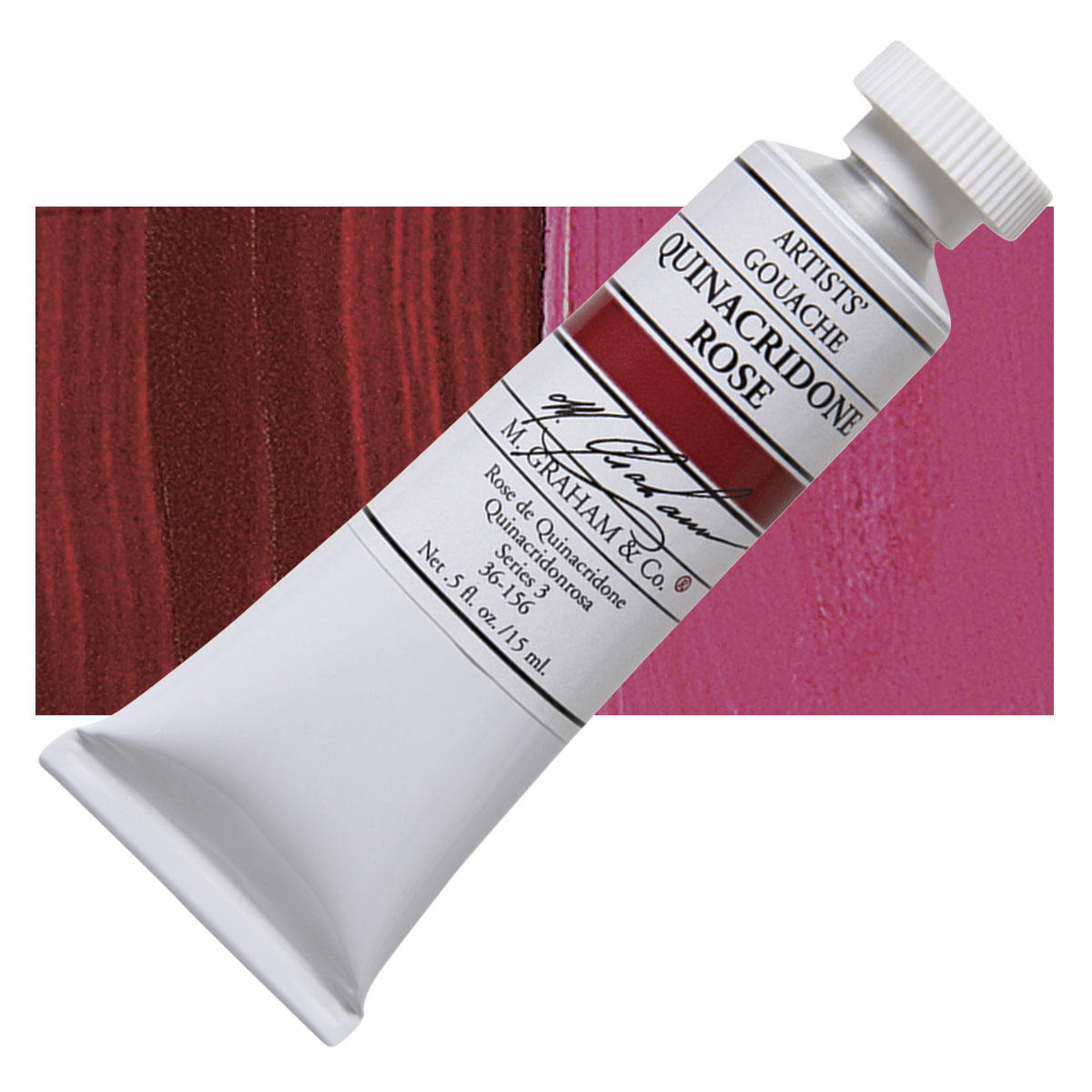 Image For M. Graham<br>Gouache<br>Quinacridone Rose<br>0.5oz