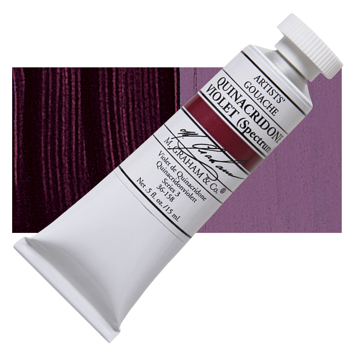 Image For M. Graham<br>Gouache<br>Quinacridone Violet<br>0.5oz