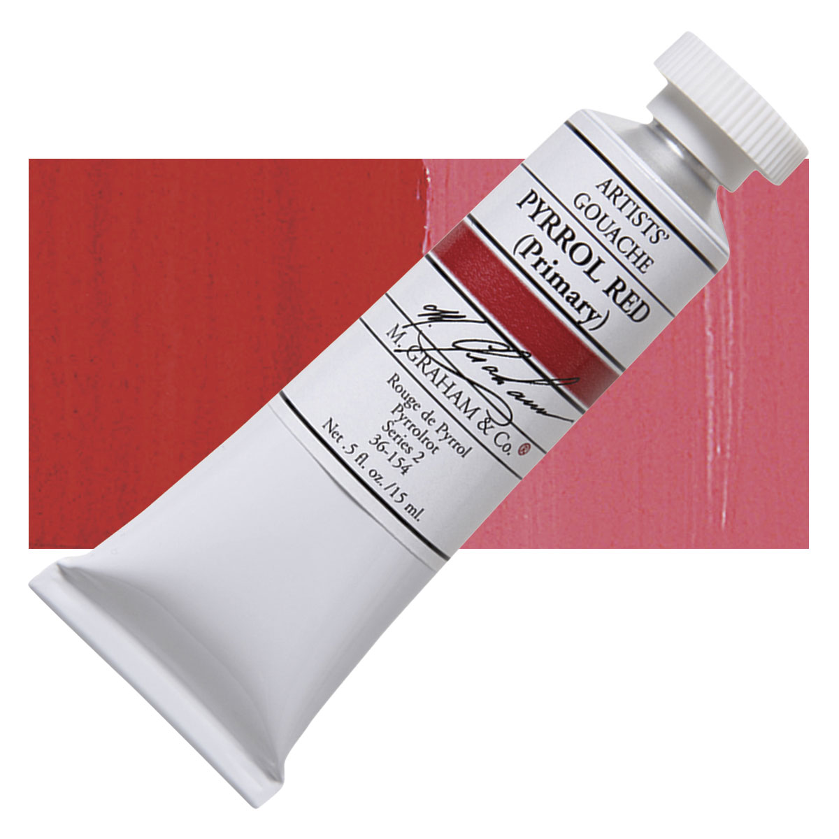 Image For M. Graham<br>Gouache<br>Pyrrol Red<br>0.5oz