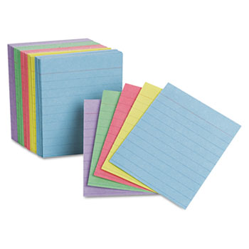 Image For Oxford ½ Index Cards<br>Assorted Colors<br>200 Cards
