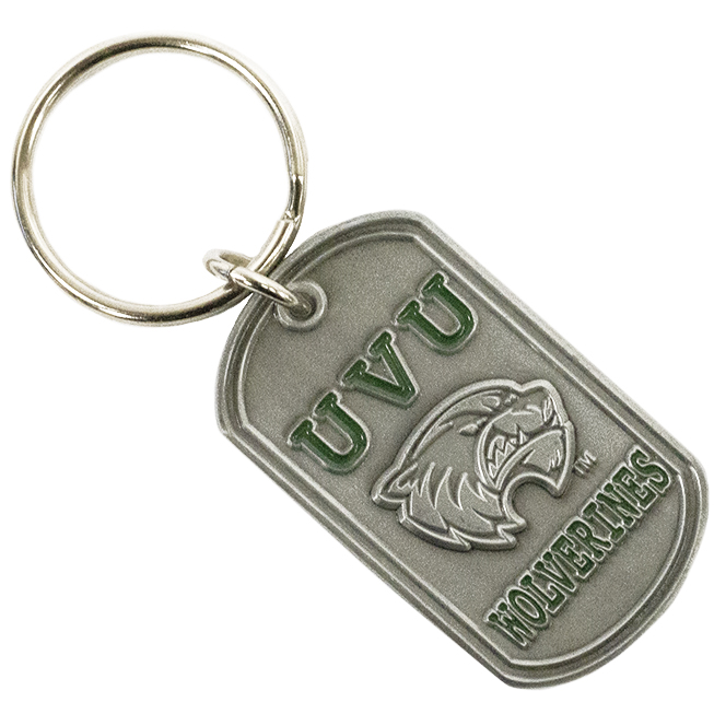 Image For UVU Wolverines Key Tag<br>Stratton Dog Tag