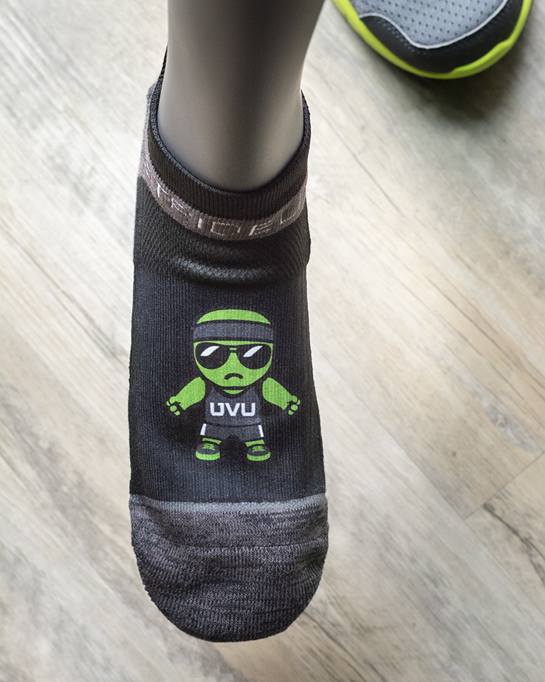 Image For Tokyodachi Green Man<br> Black Crew Sock