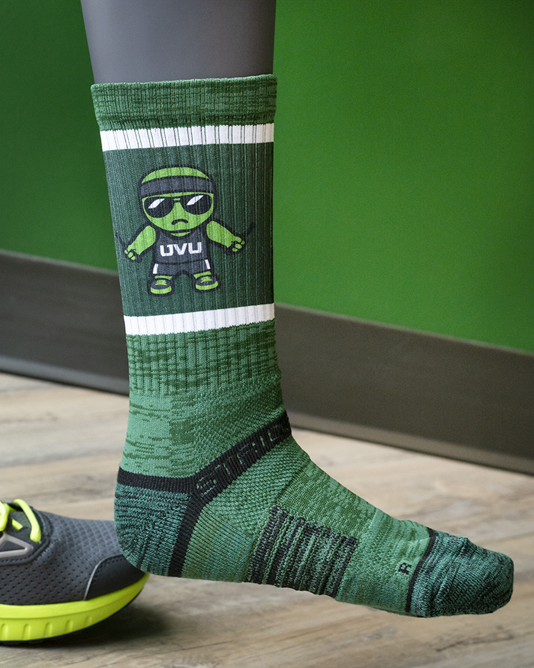 Image For Tokyodachi Green Man<br> Forest Tall Sock