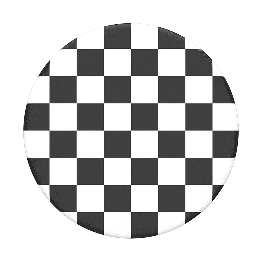 Image For PopSocket Swappable<br>Black Checker