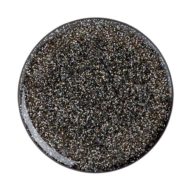 Image For PopSocket Swappable<br>Glitter Black<br>Pop Top